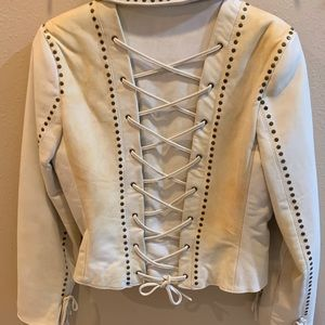 Double D Ranch off white/tan weathered look jacket